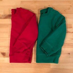 Bundle of Two Primary Sweatshirts